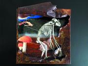 collage-3d-plat-métal-rouillé