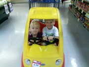 Grocery shopping is always fun!