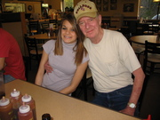 Step-granddaughter Brittani and Larry