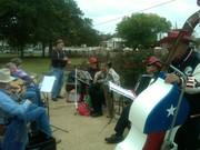 Bluegrass jamming in Salado