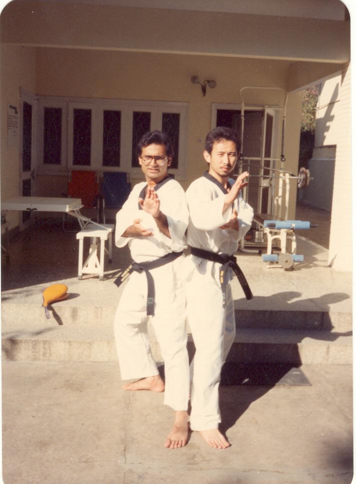 Master Zubairi with his Teacher Gm Isa Won 1992