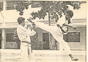 Master Zubairi performing Jump Spin Kick