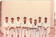 Master Zubairi with his Black Belt Students-1990