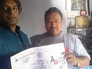Shihan Mukesh Rathod receive 6th Dan under Soke Dr.Jagdish Singh