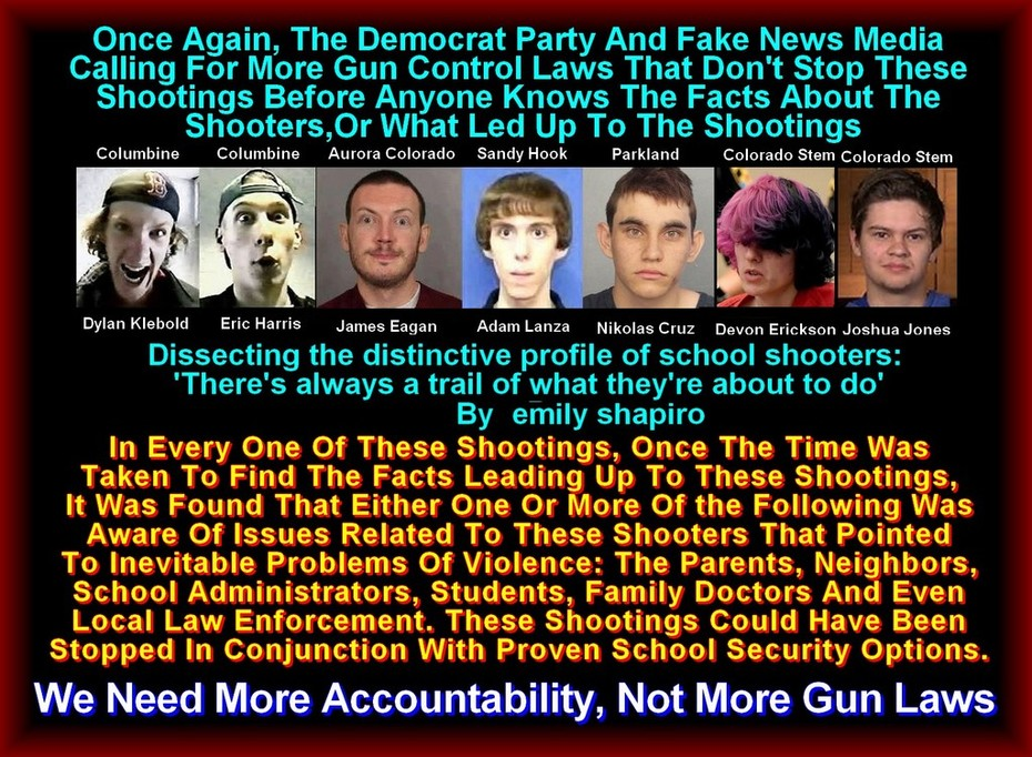 School Shooters - Wake Up America
