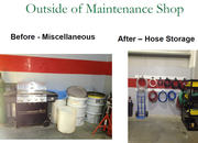 Maintenance Shop Before and After