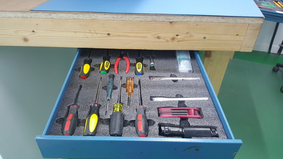 Testing Tool drawer after