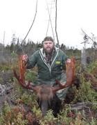 me with adams moose head