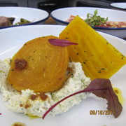 A starter of roast golden beetroot