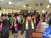 Graduation Ceremonies at the Church side