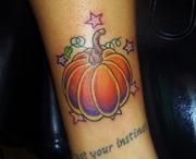 pumkin tattoo by kevin gordon