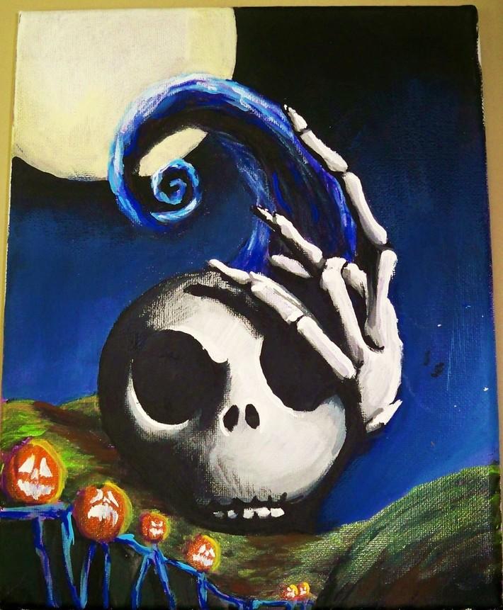 nightmare jack painting Kevin Gordon, tattoos, Inkaholics, wingate N.C. 28174, 704-233-9383, inkaholicsnc.com kmgsucks@yahoo.com, union county