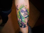 beetle juice tattoo Kevin Gordon, tattoos,  www.kevingordontattoos.com