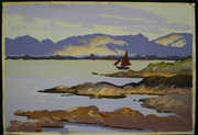 From Doolin Pier, Carraroe. Pastel. 8x12