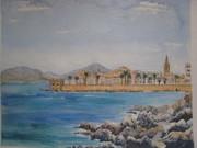 painting sardinia nd rocks