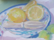 Plein Air Still life with Lemons