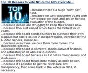 Top 10 Reasons to vote no on override