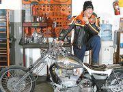 Micky Rorke w/ my Black Death Harley