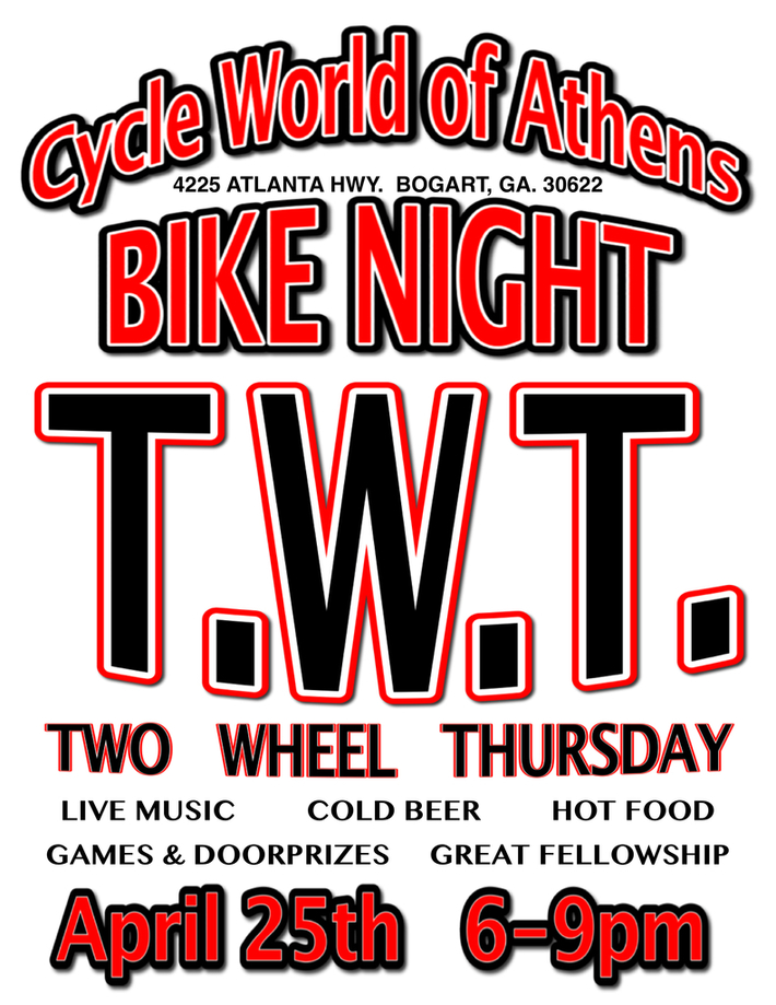 TWT (Two Wheel Thursday) Bike Night @ Cycle World