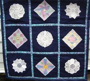 Squares & Dresden Plates quilt.