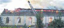 Artane church on fire