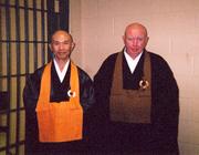 With Shodo Harada Roshi - Death Row, Arkansas.