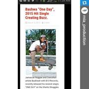 """BASHWA *ONE DAY"""" 2015 HIT SINGLE CREATING BUZZ."""