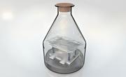Havnescene in a bottle