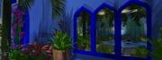 Blue Moroccan Courtyard