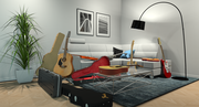 guitar mess room