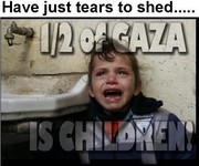 1/2 Of Gaza Is Children.