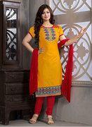 yellow salwar suits