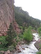 Eldorado Canyon trad climbing