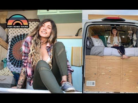 She Lives & Travels Full Time In Her 2018 Ford Transit DIY Camper Van