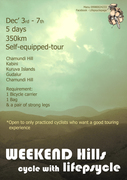 Weekend Hills - 350km - Dec 3rd to 7th