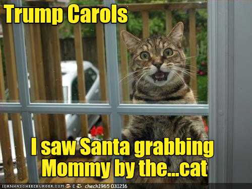 Trump Carols: I saw Santa grabbing Mommy by the...cat