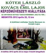 Kóter László és Kovács Emil Lajos képzőművészeti tárlata Marosvásárhelyen
