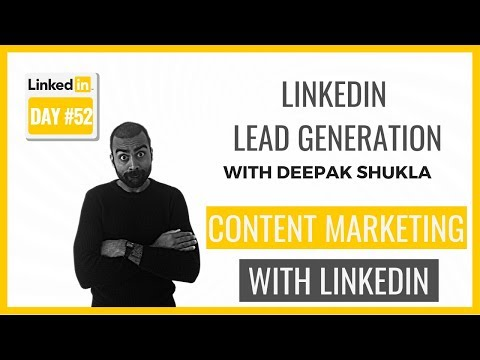 How To Use LinkedIn For Content Marketing | LinkedIn Training Day 52 | Pearl Lemon Leads