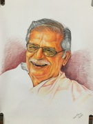 Pencil Portrait - Gulzar