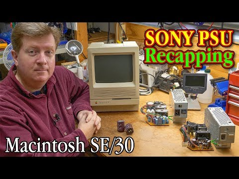 Macintosh SE/30 SONY Power Supply Recapping Walkthrough