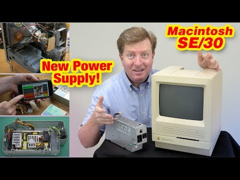 Macintosh SE/30 New Power Supply (PSU), Voltage & Accelerator Tests