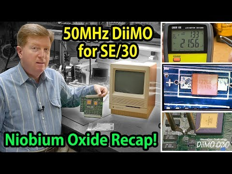 Recapping a MicroMac DiiMO 50MHz 68030 PDS Accelerator for Macintosh SE/30