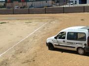 """Comienzo de las obras en el campo de futbol """"el palomar"""" para la plantación de cesped"""