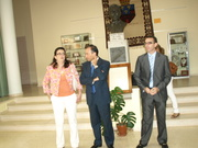 Acto de entraga de diplomas del GEOPARQUE en Logrosán por parte del Presidente de Diputación