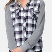 Blending Black Hooded Cool Flannel Shirts Manufacturer
