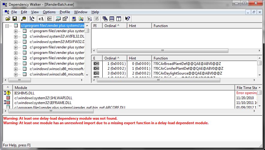 Can't render, crash error - Render Plus Software