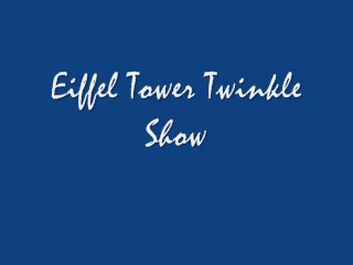 Eiffel Tower Twinkles
