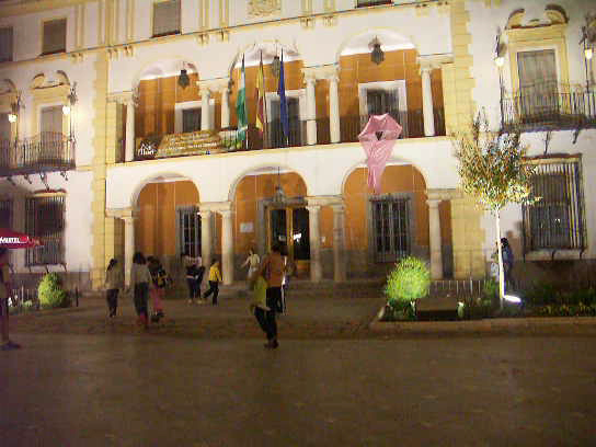 Priego de Cordoba at night