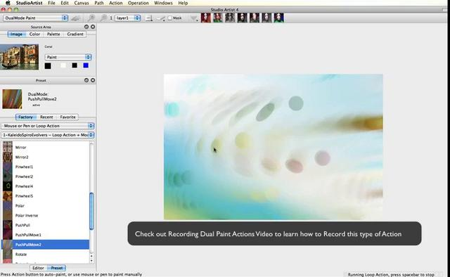 Playing with Interactive Dual Paint Mode in Studio Artist 4.0