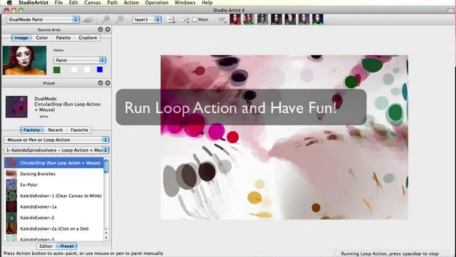 Making a Movie using the Interactive Dual Paint Mode in Studio Artist 4.0